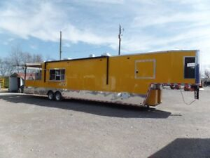 Concession 8.5x4ft Yellow Goose Neck Event Trailer