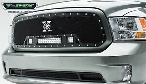 Fits 13-18 Ram 1500 1p Upper Torch Series LED Light Grille Insert T-Rex 6314581