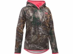 NWT Girls Under Armour UA Storm Realtree Camo Hoodie L 14-16