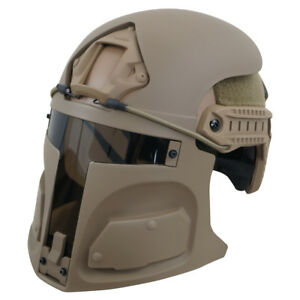 Bounty Hunter Helmet Mask for Ops-Core FAST (mask only) SAND FREE SHIPPING
