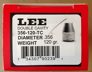 Lee 2-Cavity Bullet Mold 356-120-TC 9mm Luger 38 Super #90239 (356 Diameter)