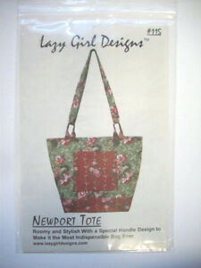 Newport Tote bag purse quilted sewing pattern various ways to carry UNCUT $7.99