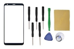 OEM Black Outer Front Screen Glass Lens Replacement For LG Stylo 4 Q710CS +Tools
