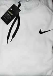 Mens NIKE 4XLT White Training Pullover Hoodie Shirt Dri-Fit Therma-Fit