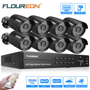 8CH4CH 1080N DVR AHD Outdoor CCTV Security Camera System Kit IR Night Vision US