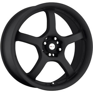 Focal F-05 166 15x6.5 4x114.3 (4x4.5)4x100 +38mm Black Wheels Rims 166-5603B