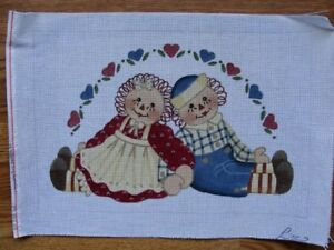 Raggedy Ann Andy Hand Painted Needlepoint Canvas Liz Dillon Alice Peterson $58.99