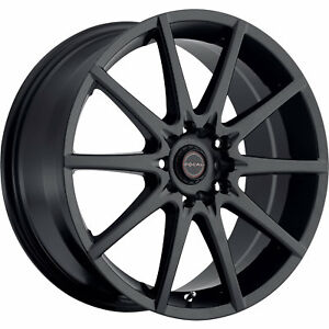 Focal F-04 428 15x6.5 4x1004x108 (4x4.25) +38mm Black Wheels Rims 428-5601SB+38