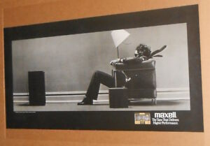 Maxell The Tape That Delivers Blown Away Original Vintage Promo Poster 20x40