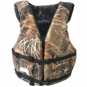 Bradley Adult Basic Fishing Life Vest US Coast Guard Approved Camo $29.99