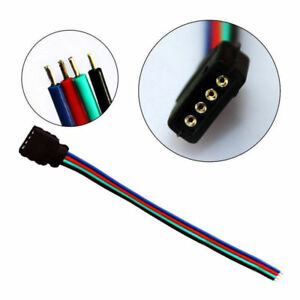 10P 4 PIN Female RGB Connectors Wire Cable For 3528 5050 SMD LED Strip