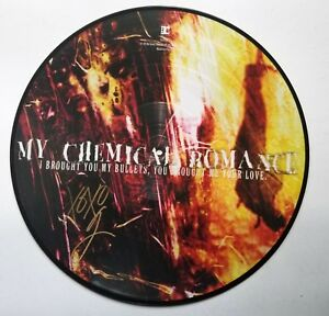 Gerard Way of My Chemical Romance SIGNED Brought Bullets picture disc vinyl COA