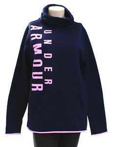 Under Armour Storm Blue amp; Pink Armour Fleece Graphic Pullover Womens NWT $52.49