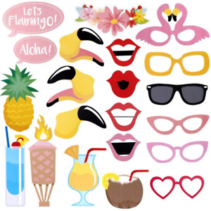 LUOEM Luau Hawaii Photo Booth Props Kit Summer Party Supplies for Holiday Weddin