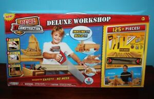 Kids Tool Set Real Construction Deluxe Workshop- Incomplete