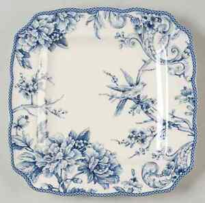 222 Fifth ADELAIDE BLUE & WHITE Square Dinner Plate 9068088