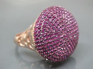 Turkish Handmade Jewelry 925 Sterling Silver Ruby Stone Ladies' Ring Sz 8