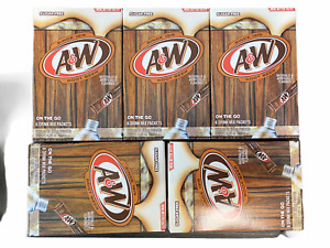 Aamp;W Root Beer Drink Mix 5 Boxes with 6 Packet Each Singles Fresh Expires 2021