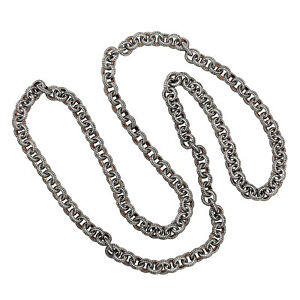 Natural 91.15ct Pave Diamond Sterling Silver Link Chain Necklace Fashion Jewelry
