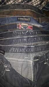 Mens lot of 7  pairs of designer jeans 3840×34