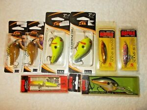 Lot of 8 Fishing Lures... Bomber Lures & Rapala Lures in Boxes & Unopened Pkgs!