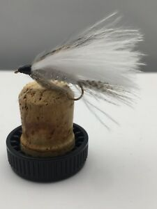 Fly Fishing PRIME collection WHITE MARABOU lure X 12 fly pack size 10