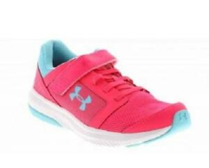 Under Armour GPS Unlimited Kids Sneakers Pink+Blue Slip On Shoes 3020475