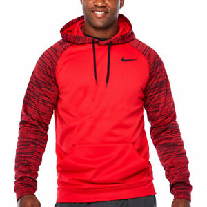 Mens NIKE Training Pullover Hoodie Shirt Dri-Fit Therma-Fit 3XLT 4XLT Red