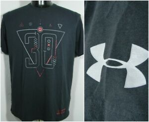 Under Armour Dry Fit Heat Gear Stephen Curry Basketball Black Adult Large Shirt