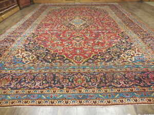 C1940VGDY ANTIQUE 16th CENTURY DESIGN SHADSAR KASHANN 9,4x13,6 ESTATE SALE RUG