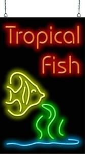 Tropical Fish With Graphic Neon Sign  Jantec  20