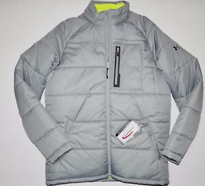 New Mens Under Armour Cold Gear Infrared Alpinite Puffer Outdoor Winter Jacket L