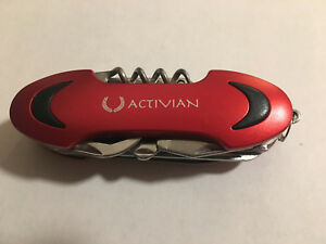 Red Stainless Steel Swiss Camping Multi Purpose Pocket Knife