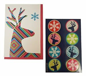The Gift Wrap Company Boxed Holiday Cards with Seals Diamond Deer $11.99