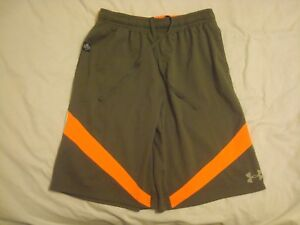 Boy's Under Armour NFL Combine Army Green and Orange Shorts Youth X-Large YXL