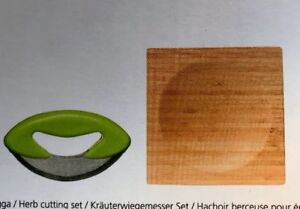 Amazing Sagaform Herb Cutter With Bamboo Board New in Box