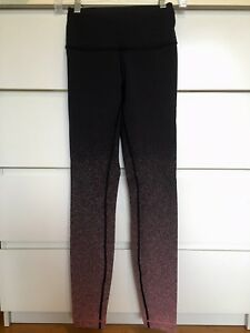 Lululemon Wunder Under Hi-Rise Tight (Ombré Speckle Black Yum Yum Pink) Size 4