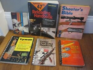 Vtg SPEER No 5 1961 + LYMAN Reloading Manuals Shooter's Bible + Winchester NICE