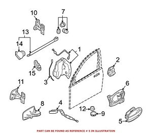 For BMW Genuine Exterior Door Handle Rear Right Outer 51217191902