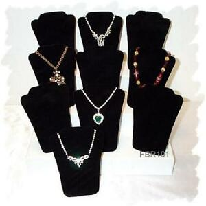 Wholesale Lot of 5 inch Black Velvet Jewelry Necklace Display Stands 96 pcs Case