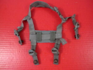 US Army Issued 4-Point Chin Strap Set wBolts for ACH & MICH Helmet - Foliage