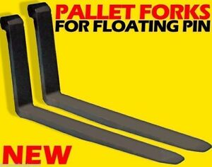 Wheel Loader Mount 21400 Lbs Cap. Low Back Forks For Floating Pin 2.5X6X72