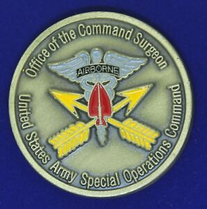 US Army Special Operations Command Command Surgeon Challenge Coin Z-1