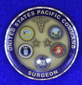 United States Pacific Command Surgeon Challenge Coin O-14