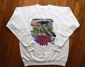 1988 RETURN OF THE LIVING DEAD PART 2 sweat shirt vtg 80s cult horror movie