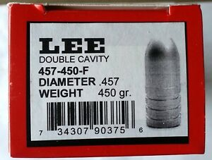 LEE 2-Cavity Bullet Mold 457-450-F--.45-70 450 Grain Flat Point--#90375