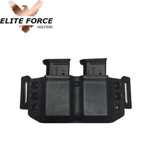 Kydex Dual Mag Pouch Holster Carrier For Sig Sauer P365 9MM Magazines
