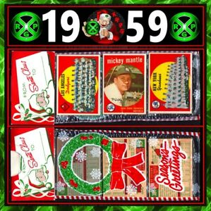 1959 Topps Mickey Mantle Unopened cello Christmas Rack Pack Yankees GRADED AUTH!