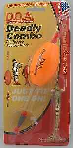 DOA DCOVAL-313 Deadly Combo Oval Float Shrimp Color 313 ClearGold Glitter 8184