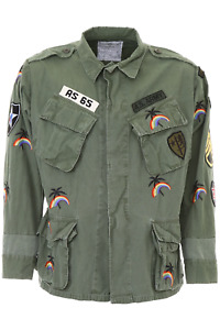 As65 shirt jacket with embroidery Y18050 Army Green - Authentic